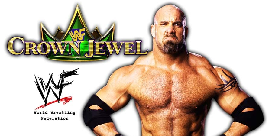 Goldberg WWE Crown Jewel