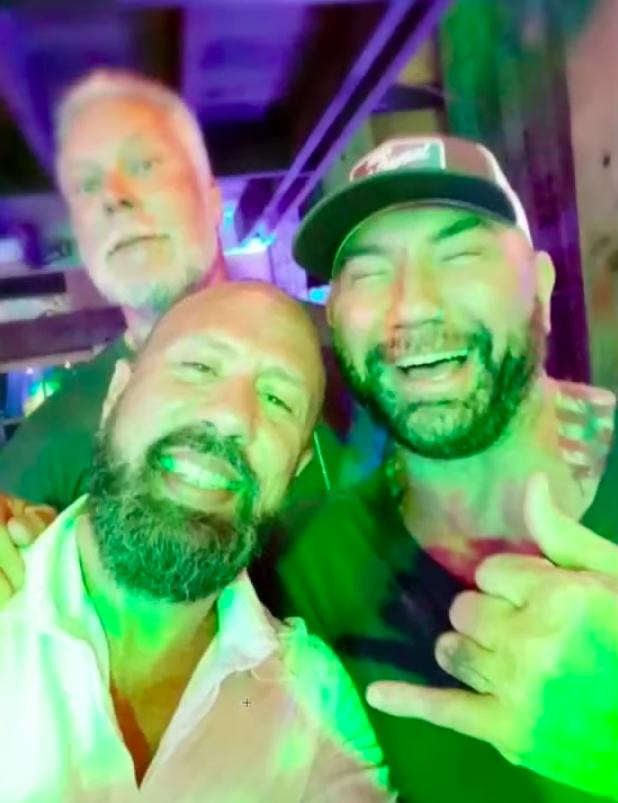 Kevin Nash X-Pac Batista at Triple H's 50th birthday bash