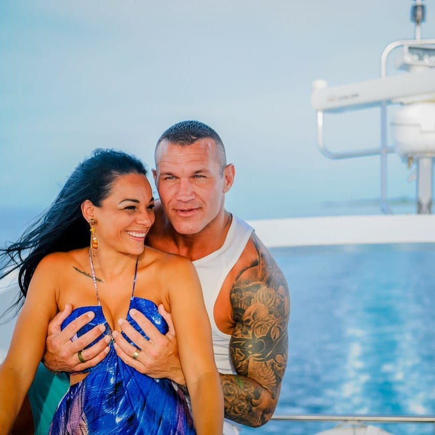 Randy Orton grabs his wife Kim Orton's boobs