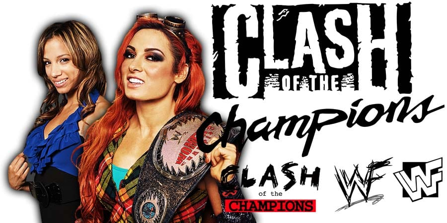 Sasha Banks vs. Becky Lynch - WWE Clash Of Champions 2019