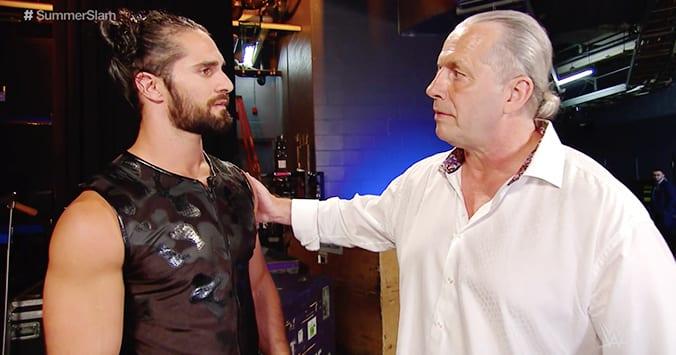 Seth Rollins Bret Hart WWE SummerSlam 2019 Backstage Segment