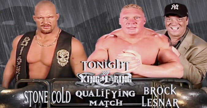 Stone Cold Steve Austin Brock Lesnar WWE King Of The Ring 2002 Qualifying Match RAW