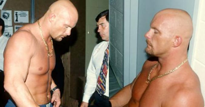 Stone Cold Steve Austin backstage at WWF SummerSlam 1997