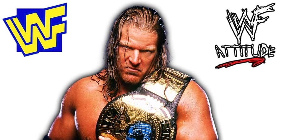 Triple H WWF Champion