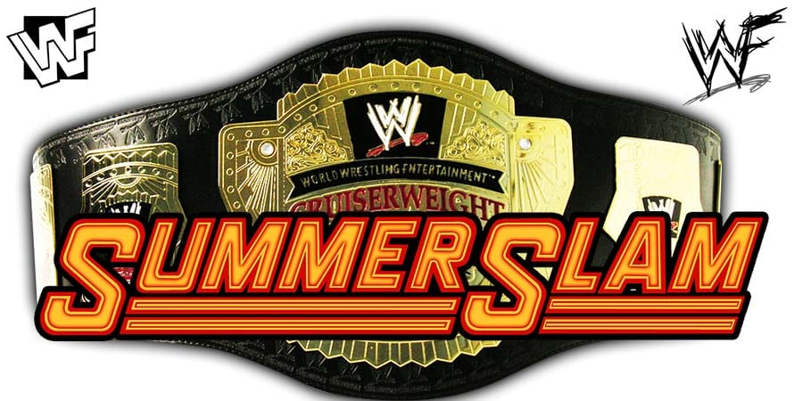 WWE Cruiserweight Championship Match SummerSlam