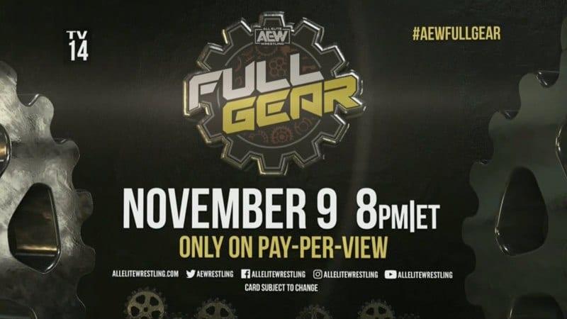 All Elite Wrestling AEW Full Gear PPV November 9
