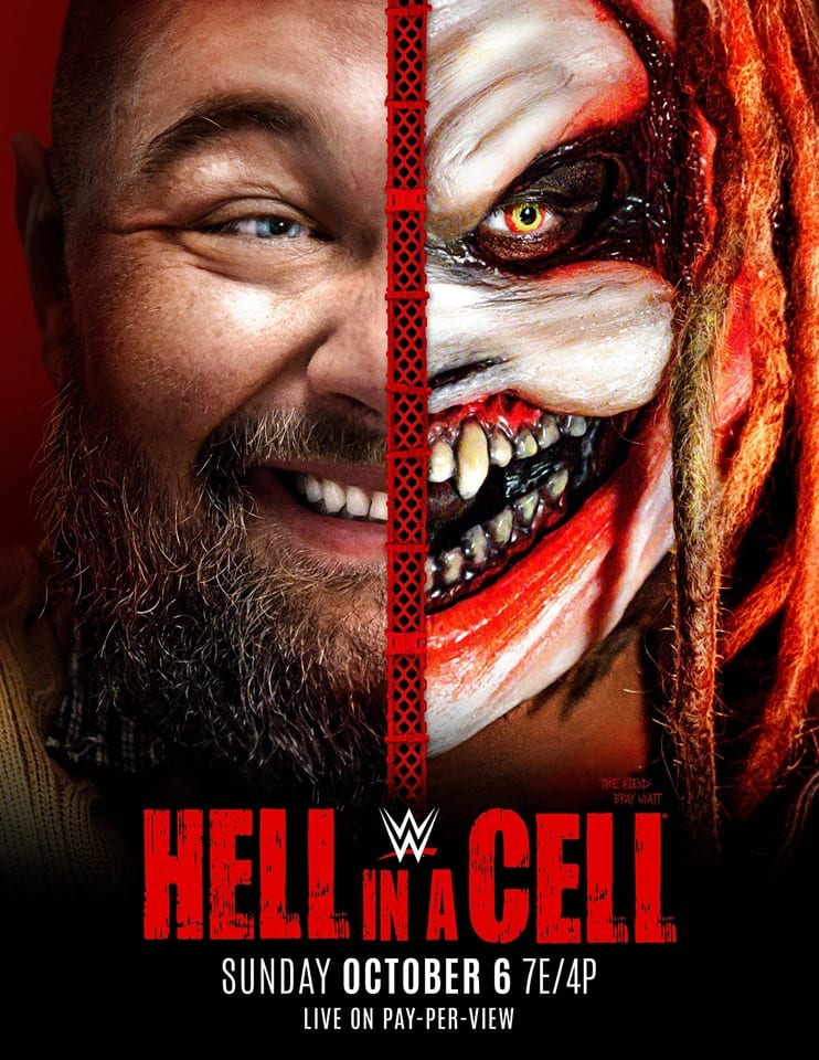Bray Wyatt The Fiend on official WWE Hell in a Cell 2019 poster