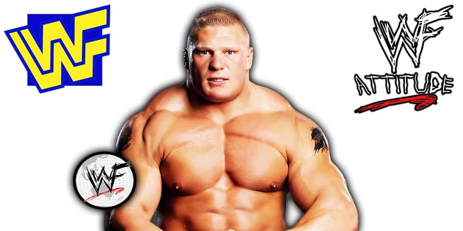 Brock Lesnar Flexing Chest WWF WWE