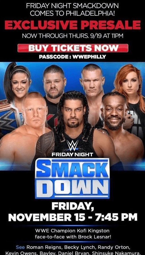 Brock Lesnar Kofi Kington Face To Face Confrontation Friday Night SmackDown on FOX November 15