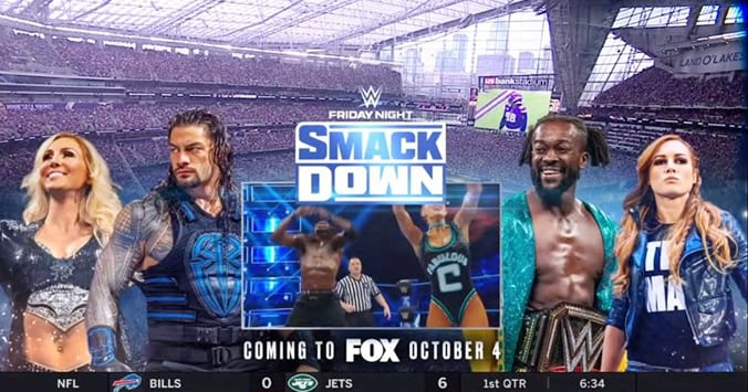 FOX Promoting WWE SmackDown During NFL