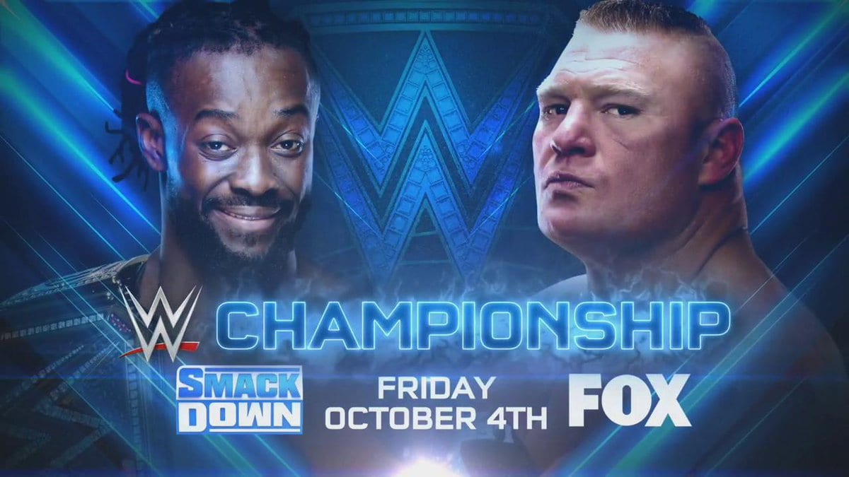 Kofi Kingston vs Brock Lesnar - WWE Championship Match (SmackDown's 20th Anniversary On FOX)