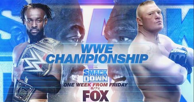 Kofi Kingston vs Brock Lesnar - WWE Championship SmackDown New Graphic