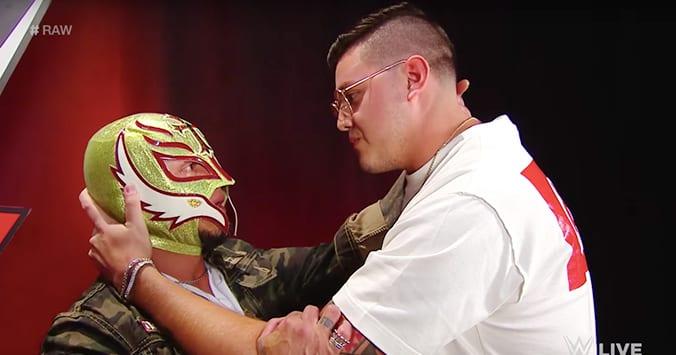 Rey Mysterio Dominick WWE RAW 2019 Backstage Retirement