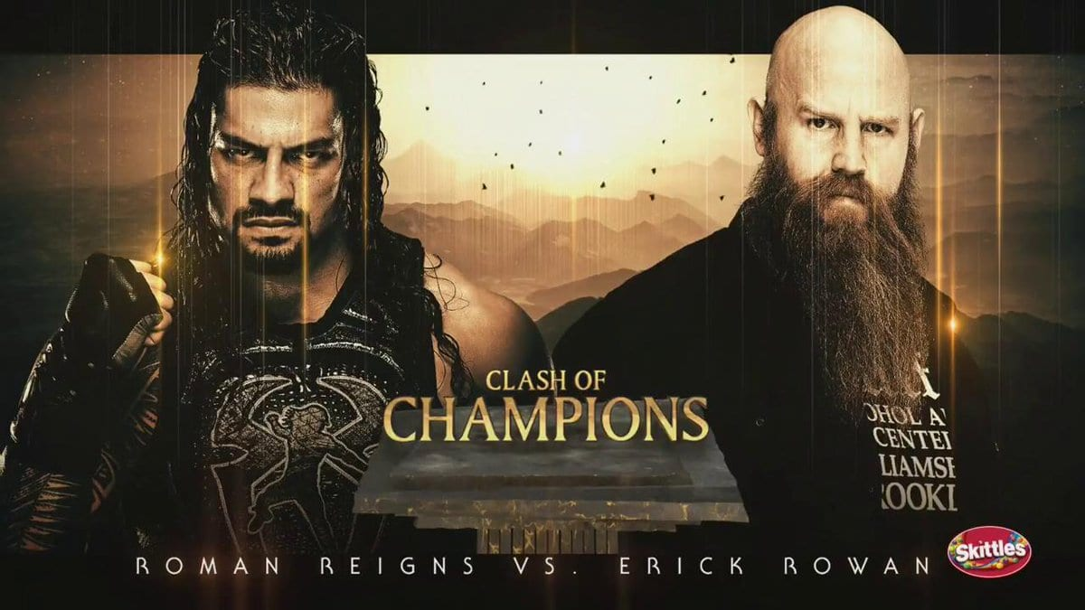 Roman Reigns vs. Erick Rowan - WWE Clash Of Champions 2019