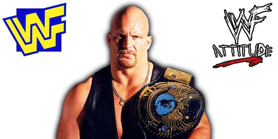 Stone Cold Steve Austin WWF Champion Attitude Era