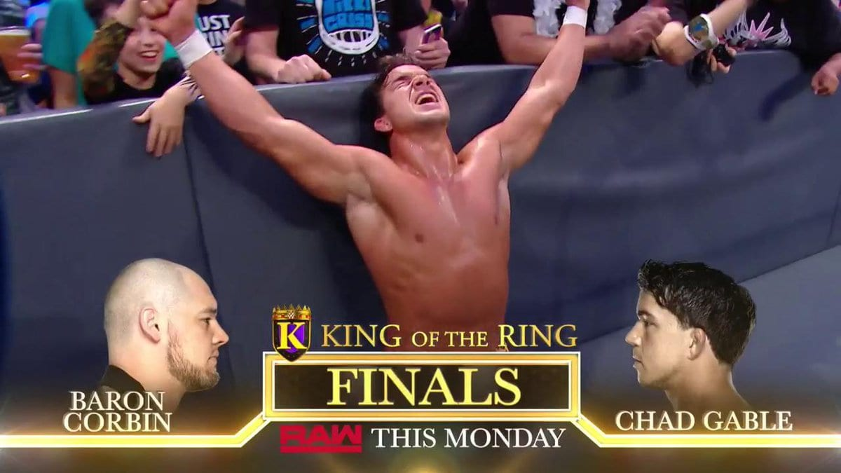 WWE Botches King Of The Ring Final Match Info For Baron Corbin vs Chad Gable