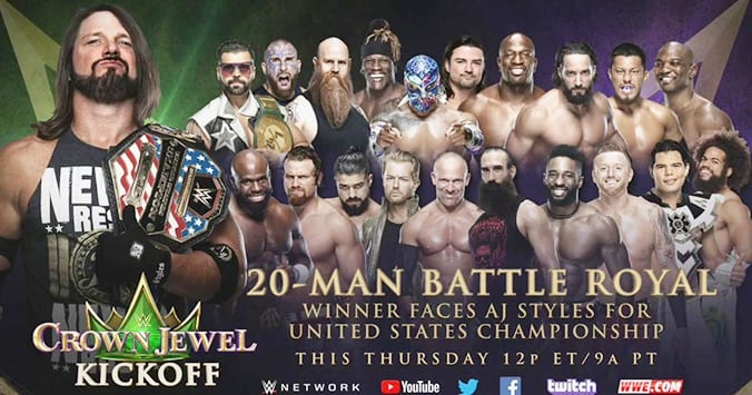 20 Man Battle Royal WWE Crown Jewel 2019