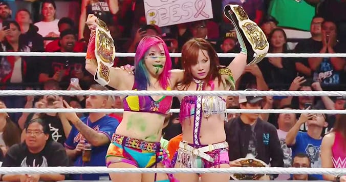 Asuka Nikki Cross Kabuki Warriors Win WWE Women's Tag Team Championship Titles