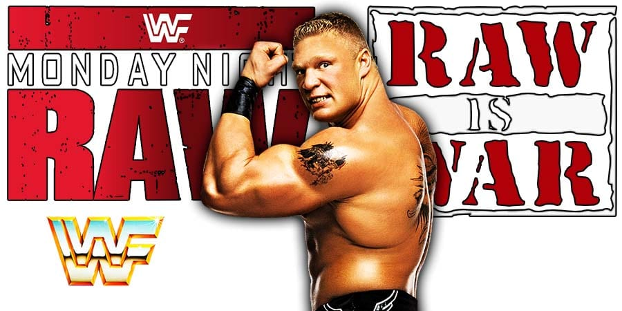 Brock Lesnar RAW Flexing