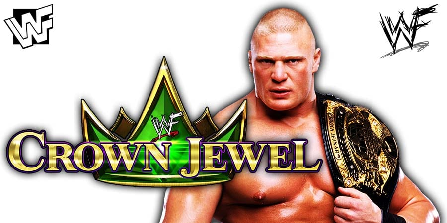 Brock Lesnar WWE Champion Crown Jewel 2019
