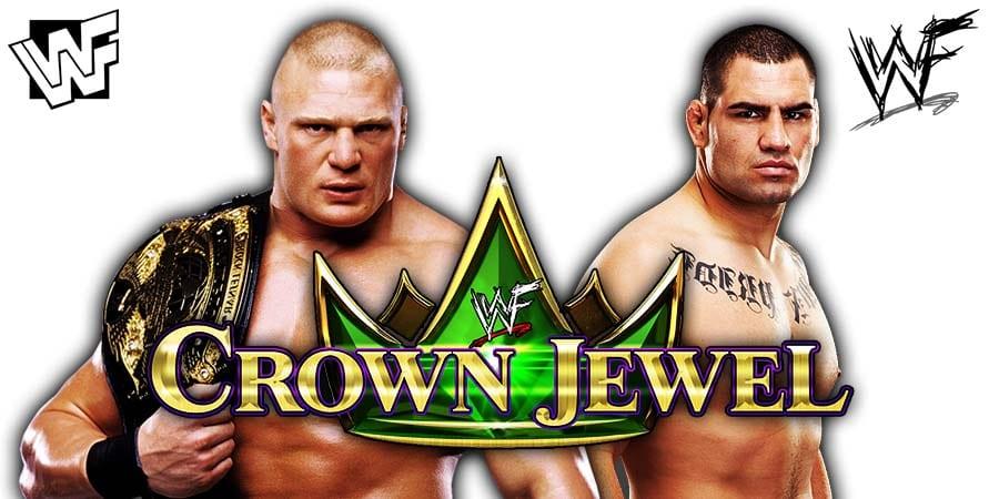 Brock Lesnar vs Cain Velasquez - WWE Crown Jewel 2019