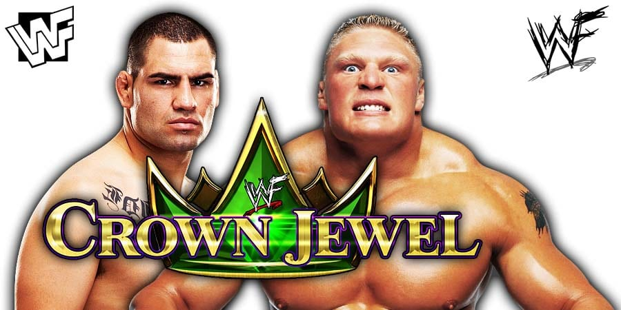 Cain Velasquez vs Brock Lesnar - WWE Title Match At WWE Crown Jewel 2019