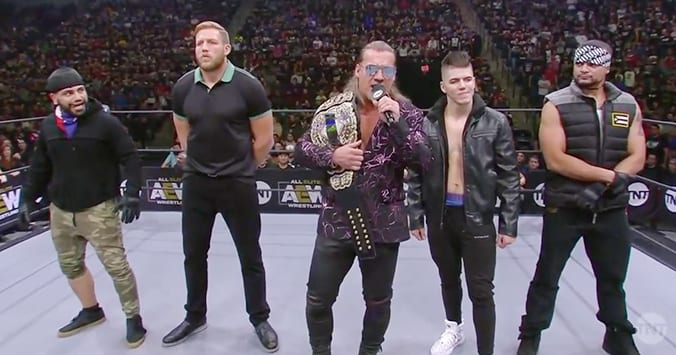 Chris Jericho Jake Hager Sammy Guevara LAX Ortiz Santana - AEW Inner Circle Stable