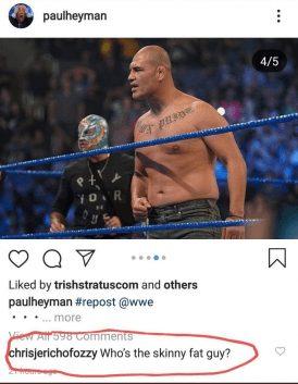 Chris Jericho calls Cain Velasquez skinny fat