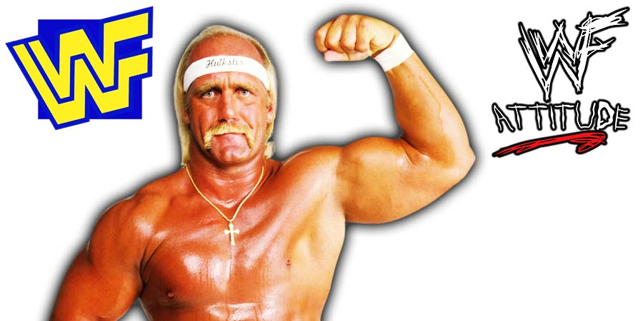 Hulk Hogan Flexing WWF