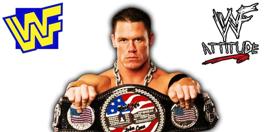 John Cena United States Championship Title Spinner Belt WWF WWE