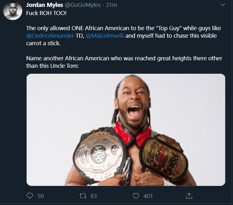 Jordan Myles says fuck ROH