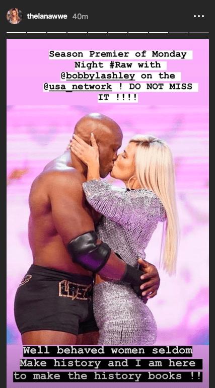 Lana reacts to kissing Bobby Lashley on WWE RAW