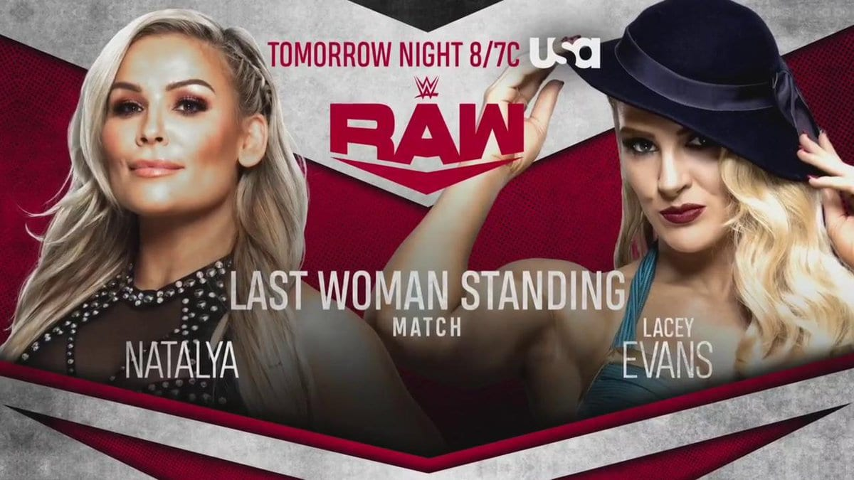 Natalya vs Lacey Evans - Last Woman Standing Match (WWE RAW 2019)