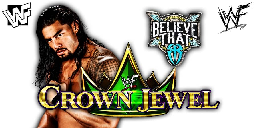 Roman Reigns WWE Crown Jewel 2019