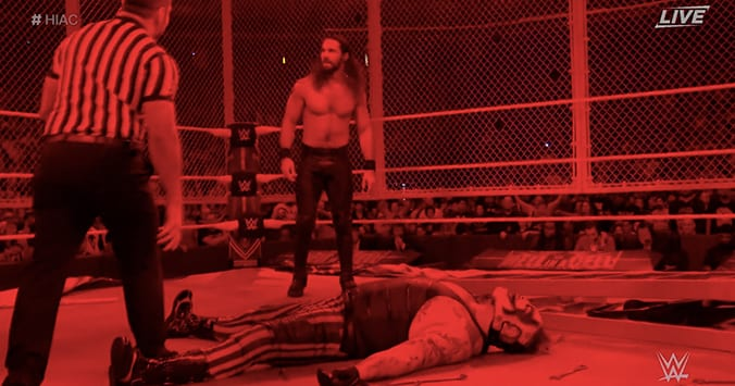 Seth Rollins destroys The Fiend at Hell In A Cell 2019