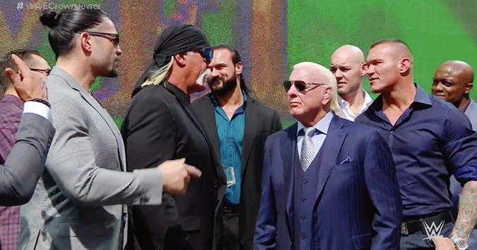 Team Hogan Team Flair - WWE Crown Jewel 2019 Media Event