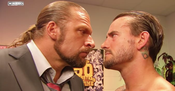 Triple H CM Punk Face To Face