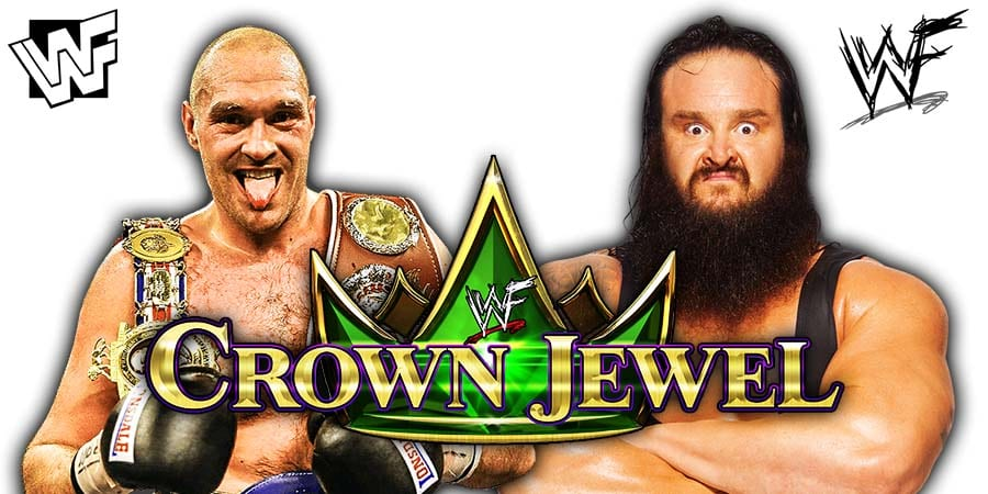 Tyson Fury vs Braun Strowman - WWE Crown Jewel 2019