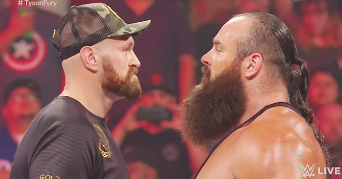 Tyson Fury vs Braun Strowman - WWE RAW 2019