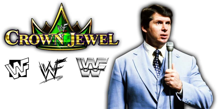 Vince McMahon WWF WWE Crown Jewel 2019