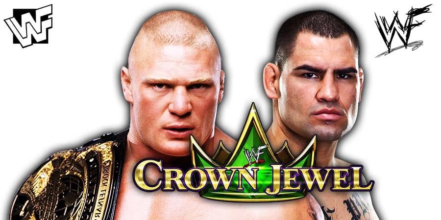 WWE Champion Brock Lesnar vs Cain Velasquez - WWE Crown Jewel 2019