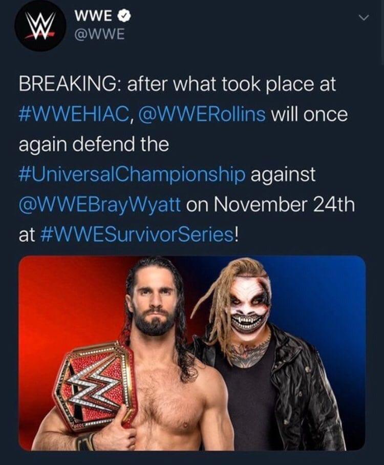 WWE Deletes Seth Rollins vs. The Fiend Rematch Announcement For Survivor Series 2019