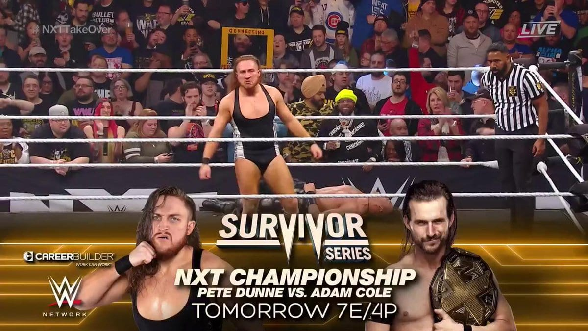 Adam Cole vs Pete Dunne - Survivor Series 2019 (NXT Championship Match)