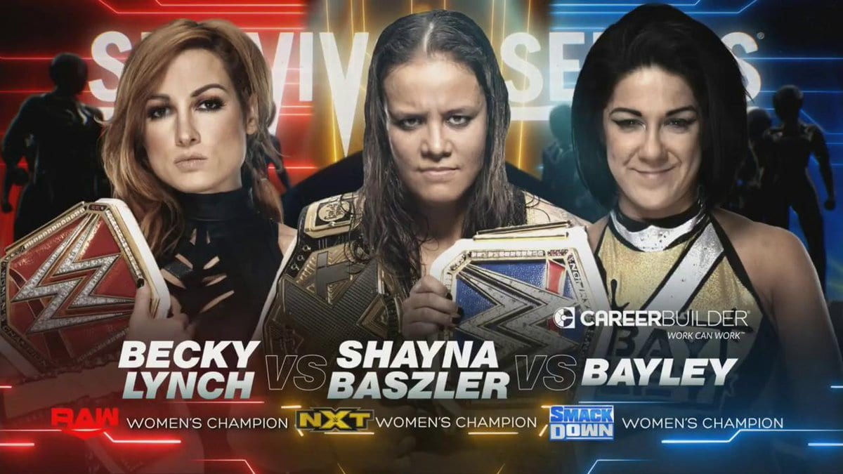 Becky Lynch vs Shyna Baszler vs Bayley - WWE Survivor Series 2019