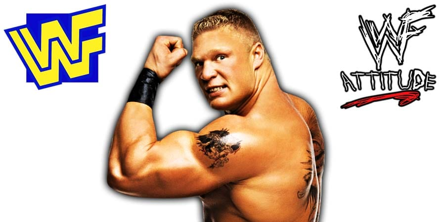 Brock Lesnar Flexing WWF