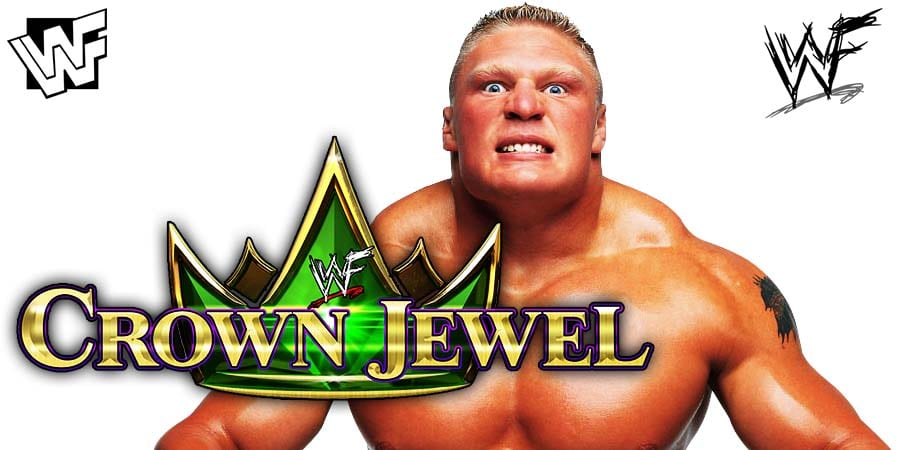 Brock Lesnar WWE Crown Jewel Match