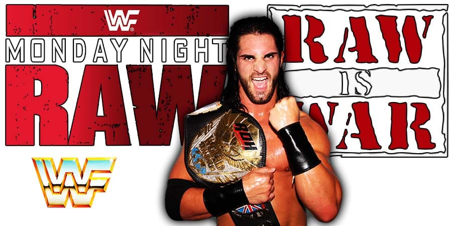 Seth Rollins as Champion WWF WWE RAW