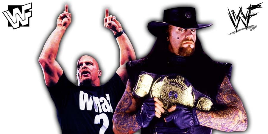Stone Cold Steve Austin The Undertaker WWF Champion