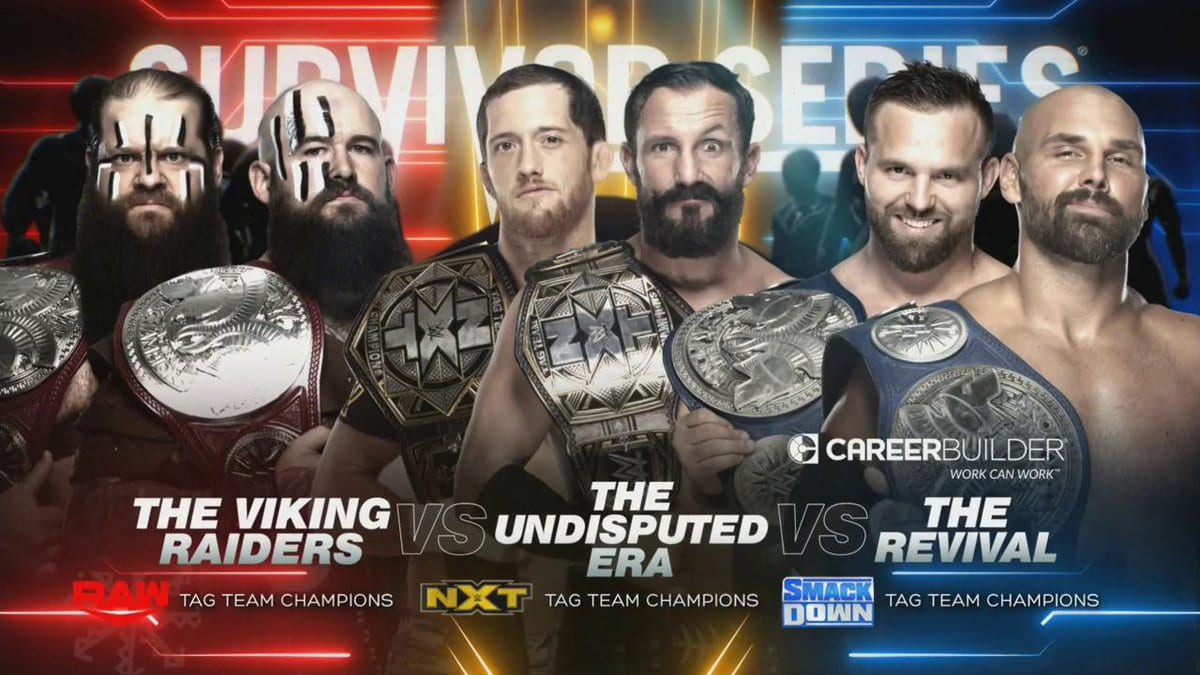 The Viking Raiders vs The Undisputed Era vs The Revival - Survivor Series 2019