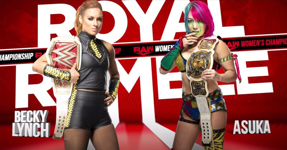 Becky Lynch vs Asuka - RAW Women's Championship Match (WWE Royal Rumble 2020)